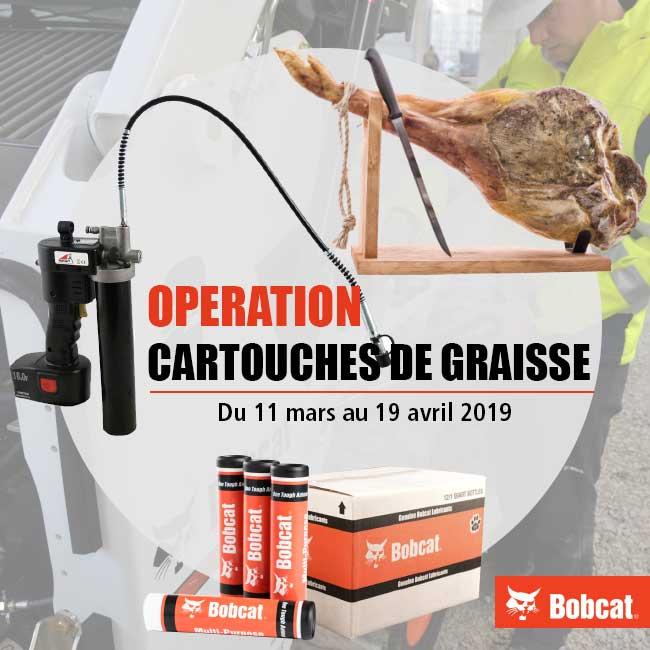 Opération Cartouches de Graisse Bobcat chez Tipmat
